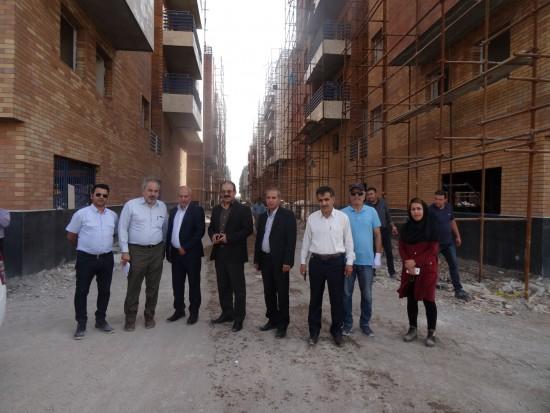 بازدید مدیران ارشد شرکت ملی گاز ایران از پروژه مجتمع مسکونی نفت