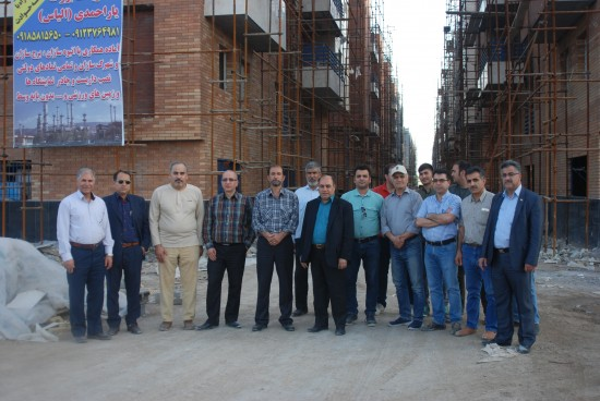 بازدید اعضاء محترم هیئت مدیره شرکت پالایش نفت آبادان از پروژه مجتمع مسکونی نفت