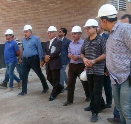 بازدیدجناب آقای دکتر زین العابدین موسوی معاون محترماستاندار و فرماندار ویژه آبادان ، از پروژه مجتمع مسکونی نفت