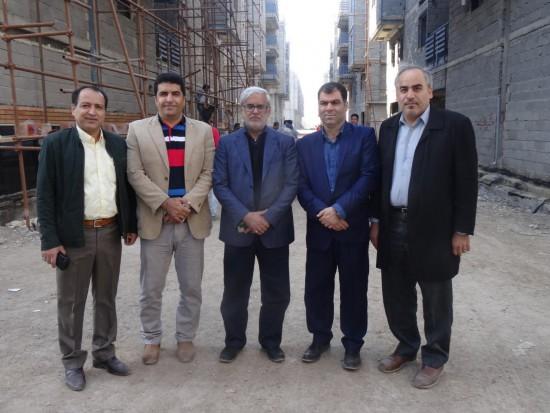 بازدید مدیر عامل پالایشگاه نفت آبادان از پروژه مجتمع مسکونی نفت